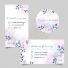Дизайн визитки, бирки, наклейки  (арт.12-90)