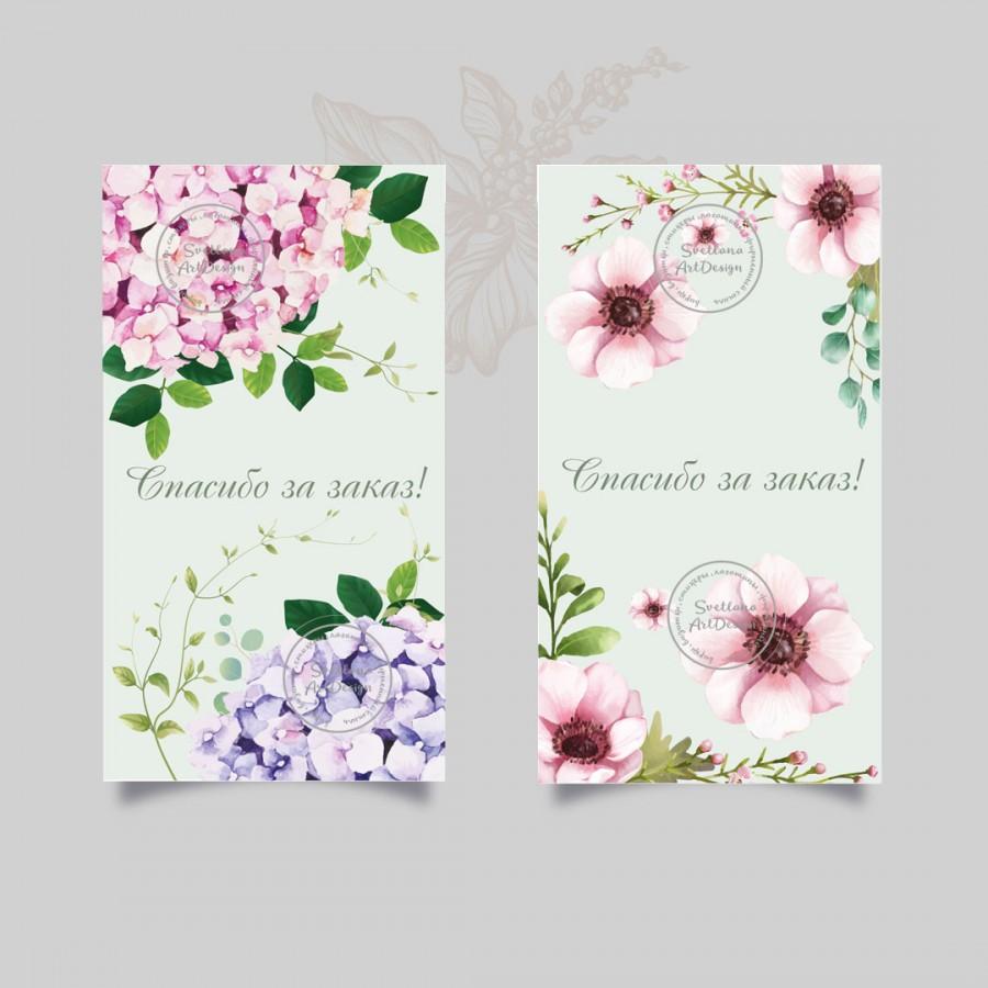 Дизайн 10 вариантов  цветочных бирок  (арт.12-91)