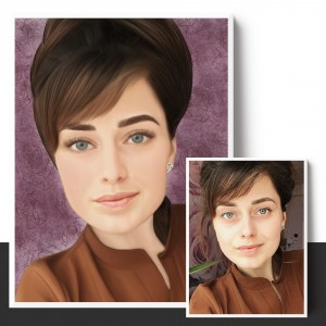 Женский портрет по фото на заказ