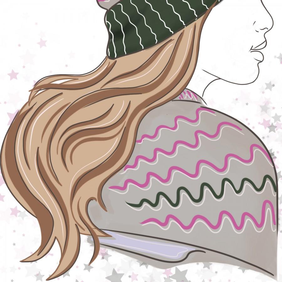 Свободный логотип  для рукодельниц вязания шапки (арт. 78-8)