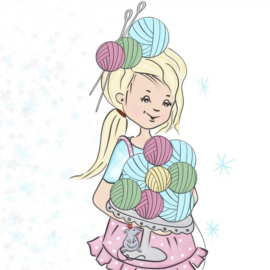 Свободный логотип  для рукодельниц вязания (арт. 78-9)