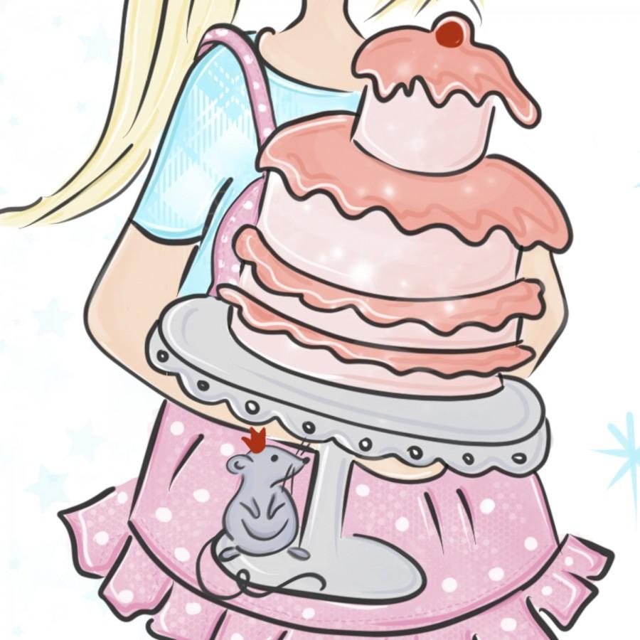Свободный логотип  для  кондитеров капкейки, тортики (арт. 78-11)