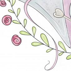 Свободный логотип  Вязание спицами букет с клубочками (арт. 78-3)