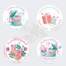 Дизайн  наклейки стикеры подарки 5 вариантов (арт.12-45)