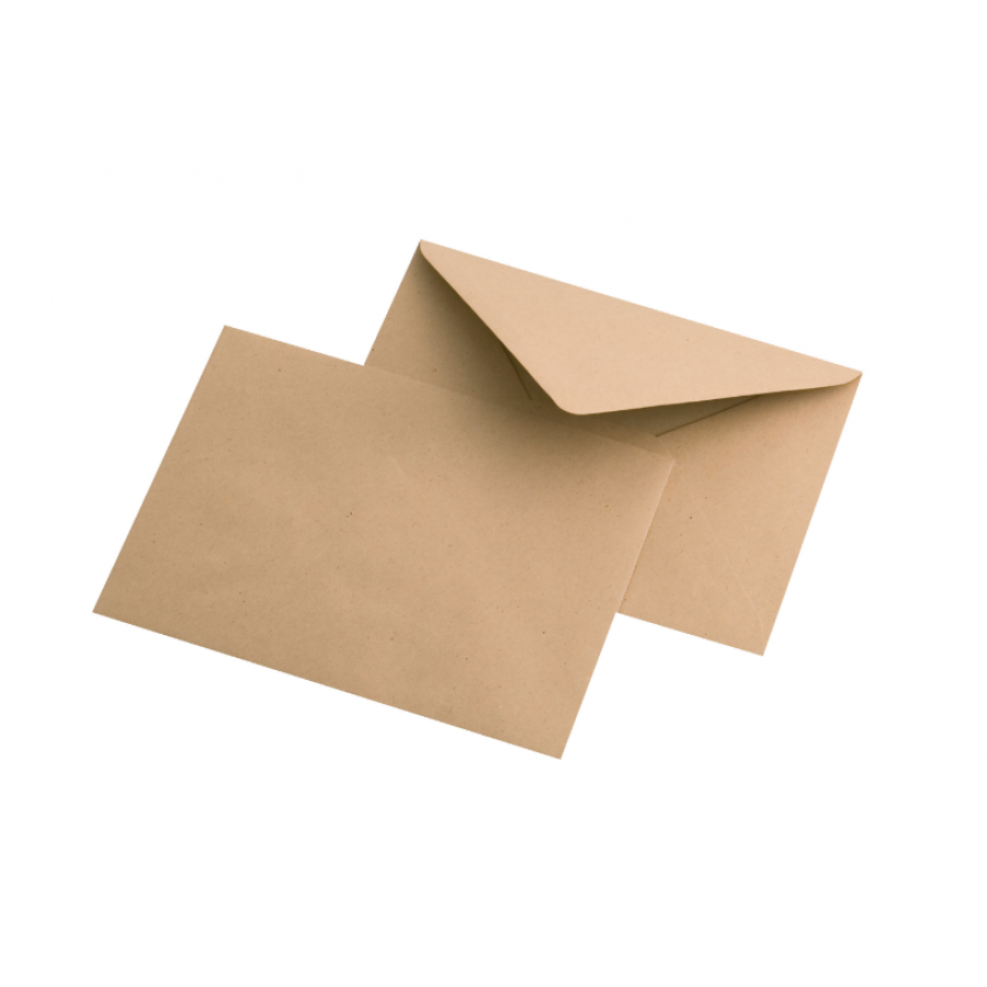 Конверты для открыток крафт  11.4 х 16.2 см