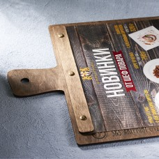 Деревянное меню доска на болтах