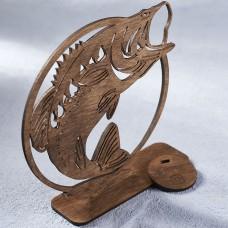 Деревянная табличка резерв Reserved рыба