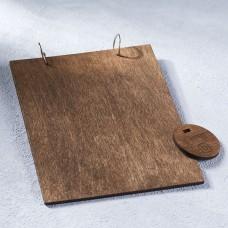 Деревянный планшет на кольцах